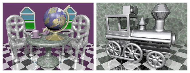 Virtual sculptures created in our DigitalSculpture modeling environment.